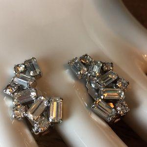 Vintage Jewelry - Weiss Crystal Clip-On Earrings